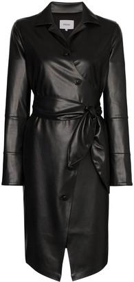 Nanushka Ailsa vegan leather belted dress