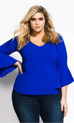 City Chic Citychic Bell Sleeve Top