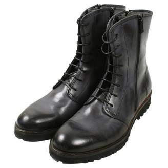 Emporio Armani Grey Leather Boots