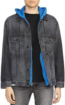 Hudson Oversized Hybrid Denim Sweatshirt Jacket