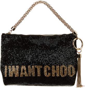 Jimmy Choo Callie I Want Choo Beaded Embroidery Clutch