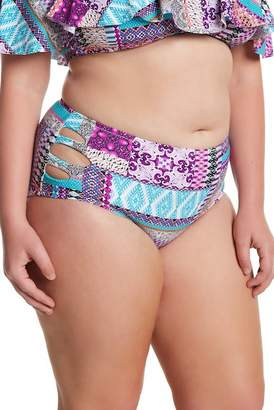 Raisins Curve Havana High Waist Bikini Bottoms (Plus Size)