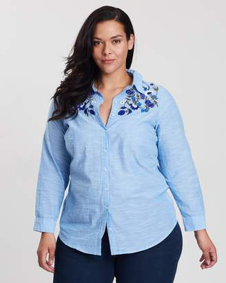 Dorothy Perkins Curve Chambray Embellished Shirt