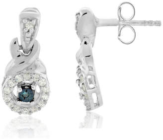 FINE JEWELRY 1/8 CT. T.W. Blue Diamond Drop Earrings