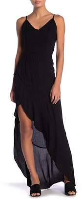 Young Fabulous & Broke YFB by Ruffle Split Maxi Dress