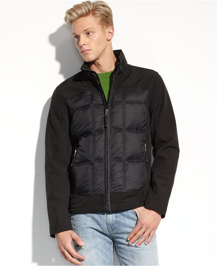 GUESS Jacket, Quilted Soft-Shell Performance Jacket