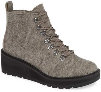Eileen Fisher Camp Wool Felt Lace-Up Boot