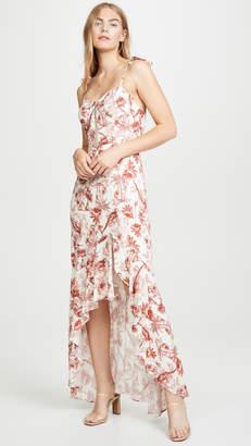 WAYF Etoile Bustier Ruffle Hem Dress