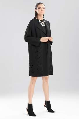 Josie Natori Double Knit Jersey Jacket