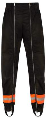 Calvin Klein Reflective Trimmed Jersey Trousers - Mens - Black
