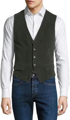 Stefano Ricci Men's Corduroy Button-Front Gilet Vest