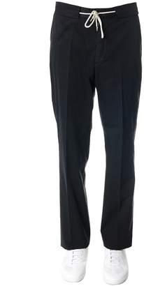 Maison Margiela Black Cotton Waist Banded Pants