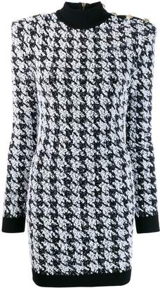 Balmain houndstooth mini dress