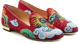 Charlotte Olympia Embroidered Loafers