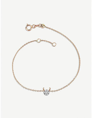 Rosegold The Alkemistry Kismet by Milka 14ct rose-gold and diamond Capricorn bracelet