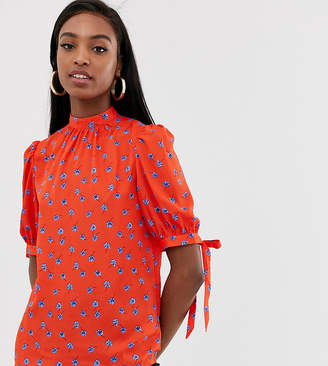 Fashion Union Tall high neck top in ditsy floral