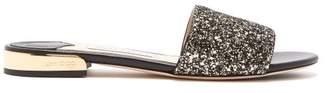 Jimmy Choo Joni Glitter Leather Slides - Womens - Gold