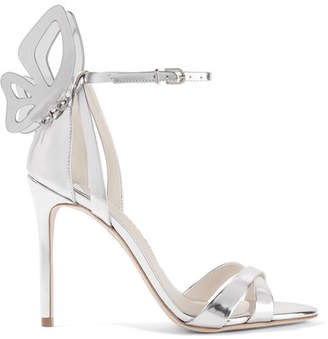 Sophia Webster Madame Chiara Metallic Leather Sandals - Silver