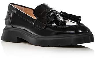 Stuart Weitzman Women's Plum Patent Leather Tassel Loafers
