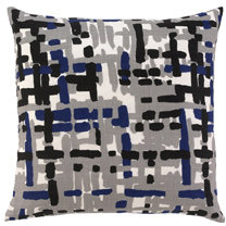 DwellStudio Painted Tweed Cobalt Throw Pillow