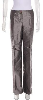 Armani Collezioni Mid-Rise Silk Pants