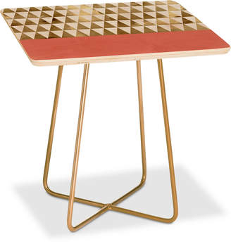 Deny Designs Georgiana Paraschiv Triangles Square Side Table