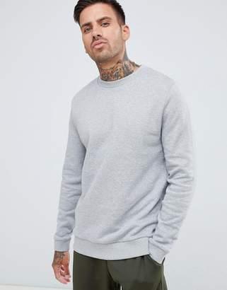 Asos DESIGN sweatshirt in gray