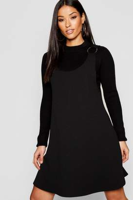 boohoo Maternity Horn Ring Dungaree Dress