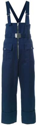 Philosophy di Lorenzo Serafini belted cropped dungarees