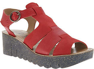 Fly London Leather Multi Strap Wedge_Sandals -Yuni