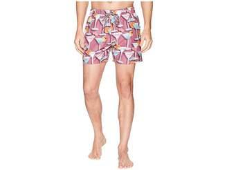 Ted Baker Morley Martini Print Swim Trunks Men's Swimwear