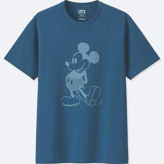 Uniqlo Mickey Blue Short-sleeve Graphic T-Shirt