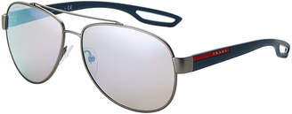 Prada Sport SPS 55Q Gunmetal Aviator Sunglasses