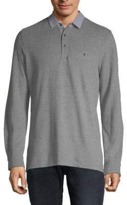 Saks Fifth Avenue Fashion Long-Sleeve Cotton Polo