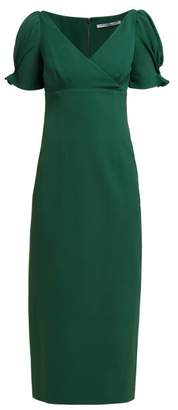 Emilia Wickstead Karinette Crepe Dress - Womens - Emerald