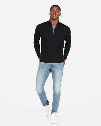 Express Ribbed Mock Neck Sweater