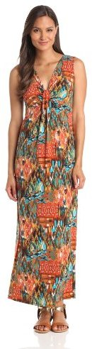 Tiana B Women's Print Jersey Maxi Dress
