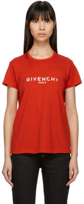 Givenchy Red Blurred Logo Baby T-Shirt