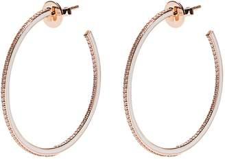 RAPHAELE CANOT Skinny Deco diamond, enamel & pink-gold earrings