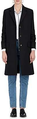 The Row Women's Amutto Wool Gabardine Three-Button Coat - Black