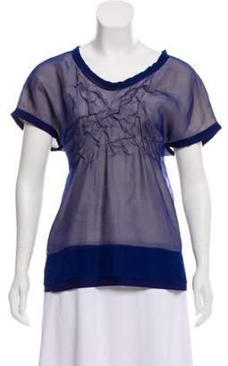 Mantu Short Sleeve Silk Top