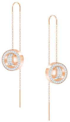 Swarovski Crystal Hollow Pierced Drop Earrings