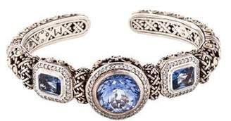 John Hardy Topaz & Diamond Batu Sari Cuff
