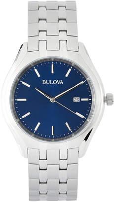 Bulova 96B268 Silver-Tone & Blue Watch