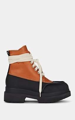 MM6 MAISON MARGIELA Women's Leather Lace-Up Ankle Boots - Black