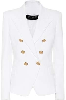 Balmain Cotton twill double-breasted blazer