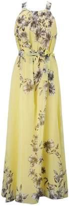Bohemia Ensnovo Womens Floral Chiffon Long Dress Summer Beach Maxi Dress , 2X Plus