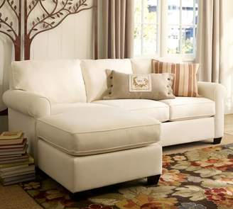 Pottery Barn Buchanan Roll Arm Upholstered Sofa with Reversible Chaise Sectional