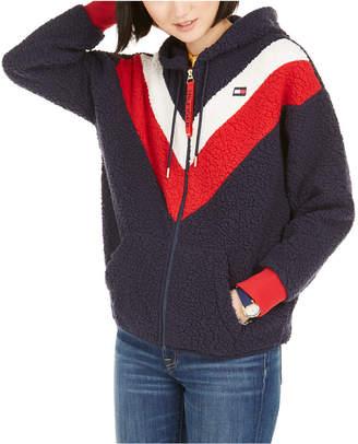 Tommy Hilfiger Faux-Sherpa Colorblocked Jacket