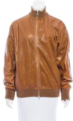 Ungaro Leather Laser Cut Jacket